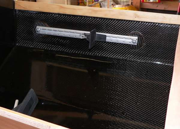 Twill weave carbon fibre fabric for high strength reinforcement of boats
