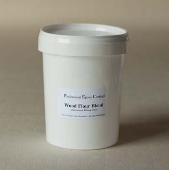 Wood flour blend filler for epoxy