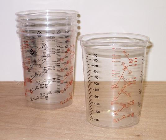 Cups for mixing and measuring epoxy