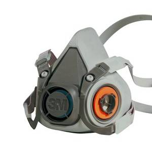The 3M 6200 reusable half-face respirator, to be used with lightweight filters as a dust mask or vapour mask