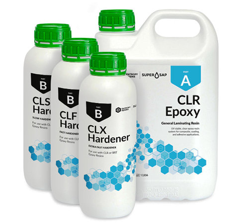 Super Sap CLR clear epoxy bio-resin system